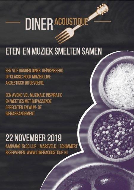 Diner acoustique bij Mareveld in Zuid-Limburg